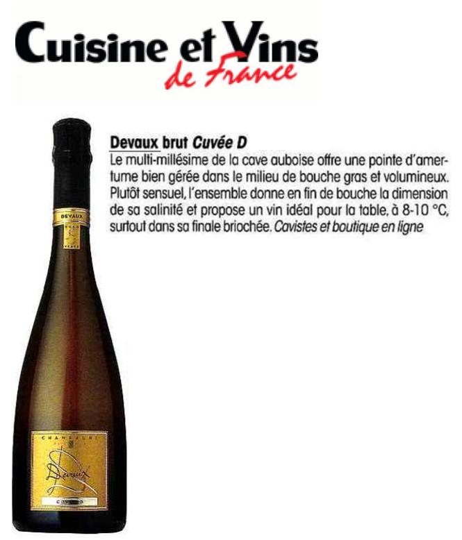 Cuisine et vins de france cuv e d champagne devaux for Cuisine et vins de france