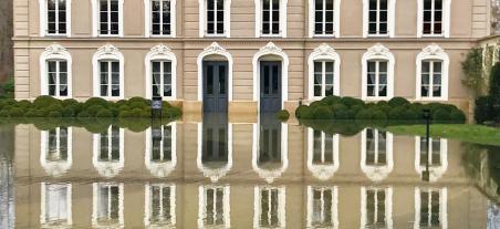 The river Seine in the Manoir Champagne Devaux ...
