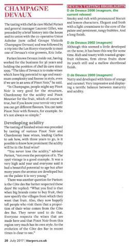 Devaux tasting - Harper's Magazine