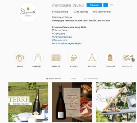 Devaux ranked 30th Champagne House in digital influence!