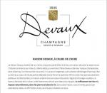 Le verre et l'assiette - Devaux's champagnes